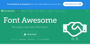 Font Awesome 4.7 top
