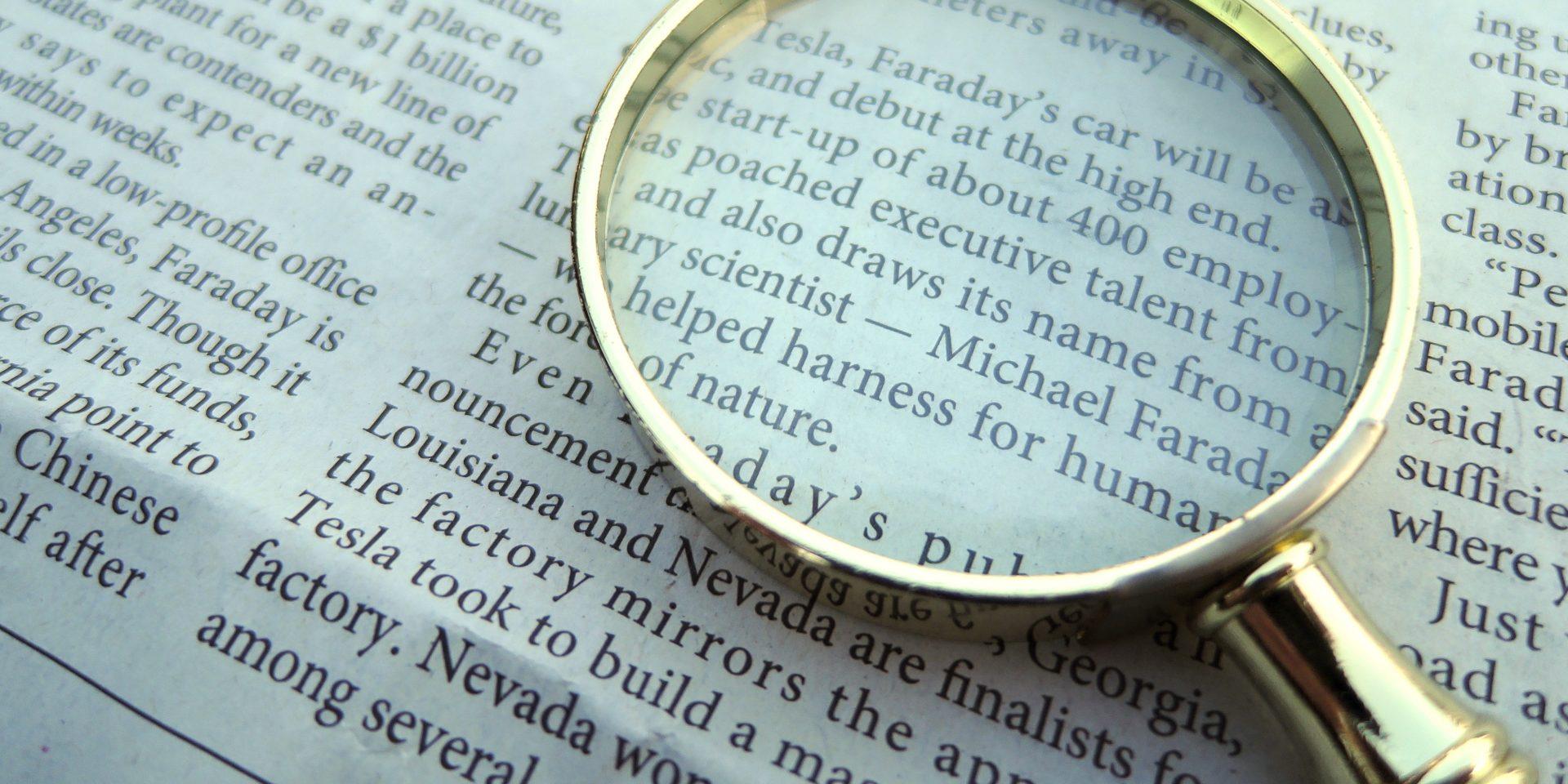 虫眼鏡-新聞-英語