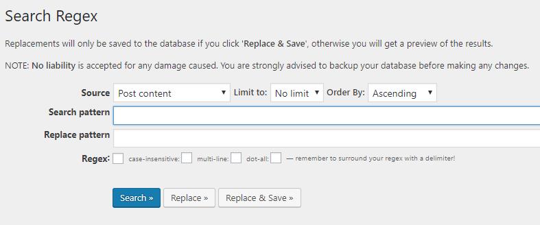 WordPress Search Regex 03