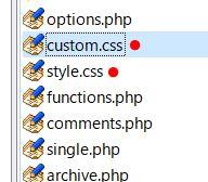 custom CSSアップ